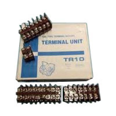 Din Rail Terminal Block 2 fungsi Model kasuga coklat