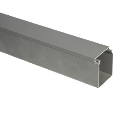 PVC cable duct dengan tanpa slot/lubang ABU