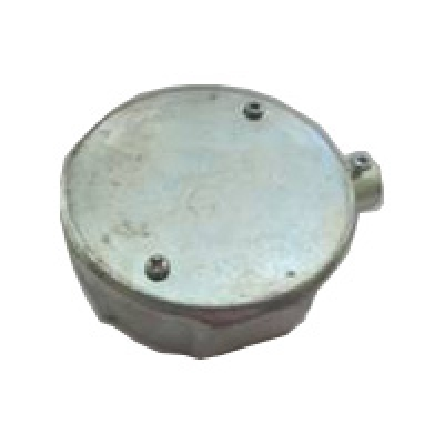 Circular Junction Box 1 way - steel