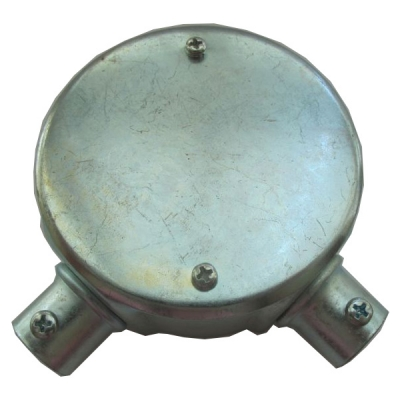 Circular Junction Box 2 steel (Through)