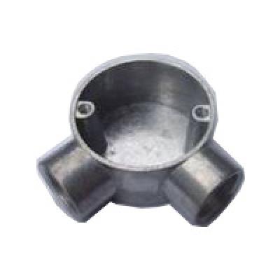 Circular Junction Box 2 way- steel (Angle)