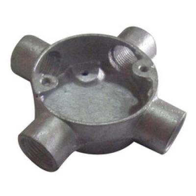 Circular Junction Box 4 way-steel