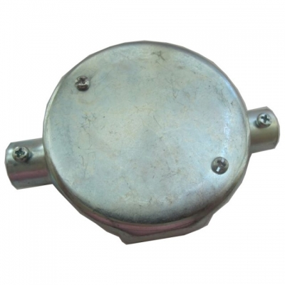 Circular Junction Box 2 way -steel (Through)