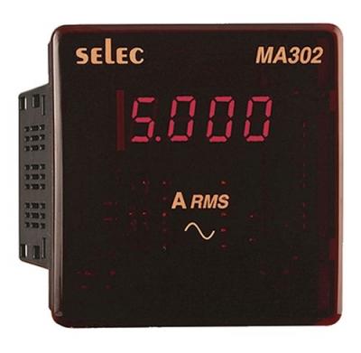 Digital Ampere Meter LED 1phase 2 wire SELEC