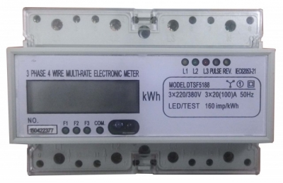 Multi Rate/Double Tarif Three Phase, 4W/50HZ Digital