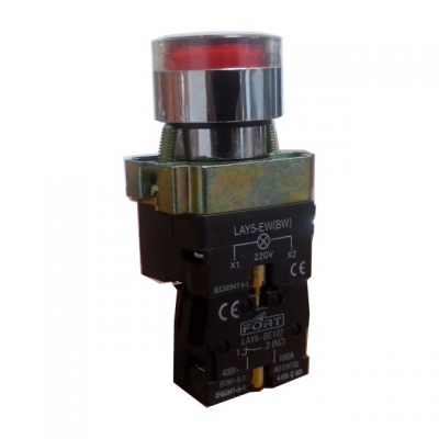 Command Switch Ilminated Push Button With Neon type lama