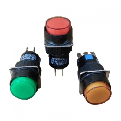 Push Button Command Switches 16MM