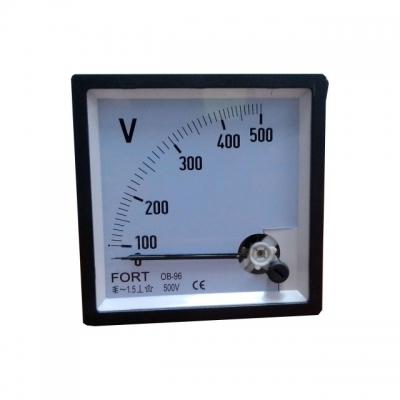 Analog Panel Meter - Volt Meter Class 1.5 FT-72