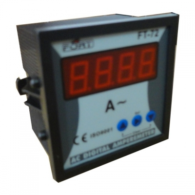 AC Digital Amperemeter, 3 display by selector switch