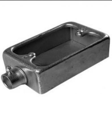 Surface Switch box 1 way : material alumunium