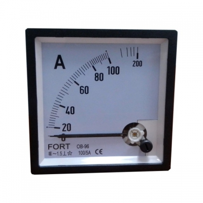 Ampere Meter VIA CT/5A Class 1.5 FT-96
