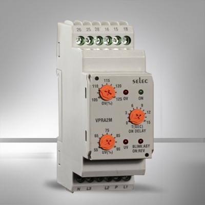 Analog Voltage Protection Relay Din Rail Mounting SELEC