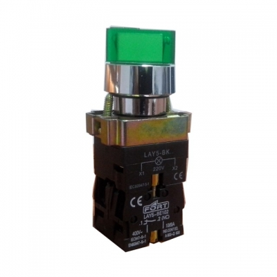 Command Switch Ilminated Selector Switch dengan lampu